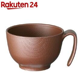 木目持ちやすい茶碗ハンドル ブラウン NBLS1H(1個)