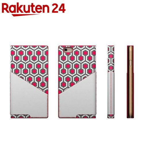 エスエルジーデザインiPhone6D0コンビカーフスキンダイアリーレッドSD4257i6
