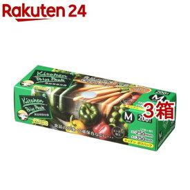ジャパックス キッチンポリパック BOX 保存袋 M SS-12(200枚入*3コセット)