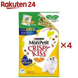 モンプチ クリスピーキッス チーズ&チキンセレクト(180g*4コセット)【dalc_monpetit】【qqy】【qqk】【モンプチ】