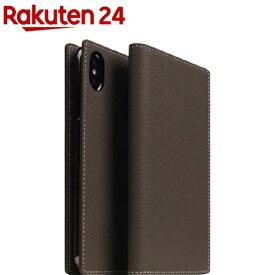SLG iPhone XS/X フルグレインレザーケース エトフクリーム SD13658i58(1個)【SLG Design(エスエルジーデザイン)】