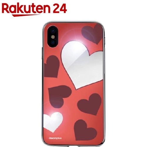 ドリームプラスiPhoneXハートミラーケースレッドDP10158i8