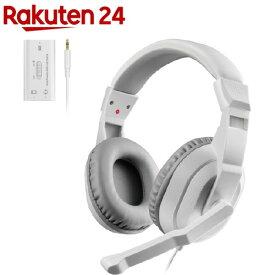 エレコム ゲーミングヘッドセット Switch PS4 PC マイク 4極 ホワイト HS-GM30MWH(1セット)