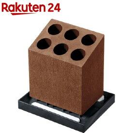 Karari アンブレラスタンド 6本 斜め ブラウン HO1959(1コ)【Karari】[傘立て]