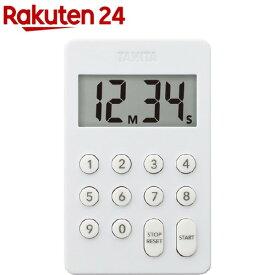 タニタ デジタルタイマー ホワイト テンキー操作音無音 ホワイト TD-415-WH(1個)【タニタ(TANITA)】