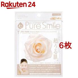 ピュアスマイル エッセンスマスク 030 ホワイトローズ(1枚入*6コセット)【ピュアスマイル(Pure Smile)】[パック]