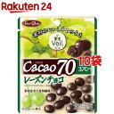果実ヴェール カカオ70 レーズンチョコ(42g*10コセット)