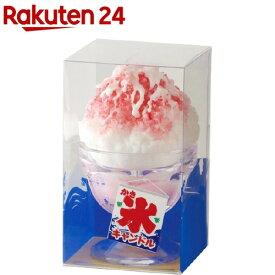 カメヤマ かき氷キャンドル イチゴ(1個入)【故人の好物シリーズ】