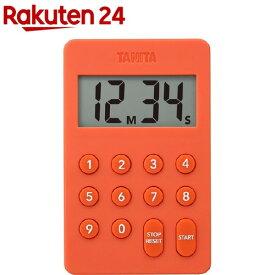タニタ デジタルタイマー オレンジ テンキー操作音無音 オレンジ TD-415-OR(1個)【タニタ(TANITA)】