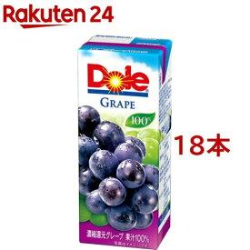 ドール グレープジュース100%(200ml*18本入)