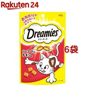 ドリーミーズ シーフード&チキン味(60g*6コセット)【ドリーミーズ】