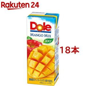 【訳あり】ドール マンゴーフルーツミックス100%(200ml*18本入)