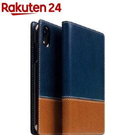 SLG iPhone XR タンポナタレザーケース ブルー X タン SD13665i61(1個)【SLG Design(エスエルジーデザイン)】