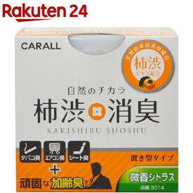 カーオール 柿渋消臭置き型 微香シトラス(110g)【カーオール】