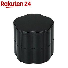 おせちプレート 小重 桜型 クリーンコート 黒(1コ入)