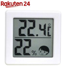 ドリテック 小さいデジタル温湿度計 ホワイト O-257WT(1セット)【rainy_7】【ドリテック(dretec)】