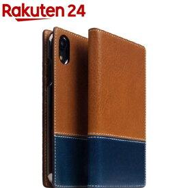 SLG iPhone XR タンポナタレザーケース タン X ブルー SD13666i61(1個)【SLG Design(エスエルジーデザイン)】