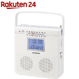 コイズミ CDラジオ ホワイト SAD-4703/W(1台)【コイズミ】