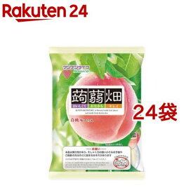 蒟蒻畑 白桃味(25g*12コ入*24袋セット)【蒟蒻畑】