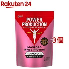 パワープロダクション マックスロード ホエイプロテイン ストロベリー味(1kg*3コセット)【パワープロダクション】