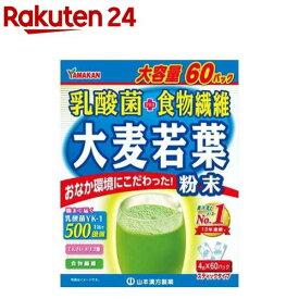 山本漢方 乳酸菌 プラス 大麦若葉 粉末(4g*60パック入)【山本漢方 青汁】