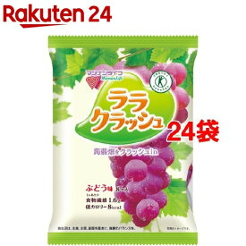 蒟蒻畑 ララクラッシュ ぶどう味(24g*8コ入*24袋セット)【蒟蒻畑】