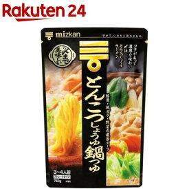 ミツカン 〆まで美味しいとんこつしょうゆ鍋つゆ ストレート(750g)【ミツカン】