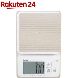 タニタ 洗えるクッキングスケール ホワイト KW-320-WH(1台)【タニタ(TANITA)】