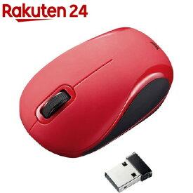 静音ワイヤレスブルーLEDマウス レッド MA-WBL36R(1コ入)
