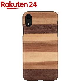 マンアンドウッド iPhone XR 天然木ケース サッビア I13872i61(1個)【マン&ウッド(Man&Wood)】