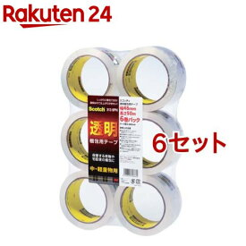 スコッチ 透明梱包用テープ 中 軽量物用 48mm*50m 313 6PN(6巻*6セット)