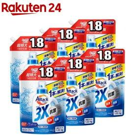アタック3X 洗濯洗剤 つめかえ用 超特大サイズ 梱販売用(1.22kg*6個セット)【アタック】
