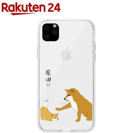 アビィフレンズ iPhone 11 Pro しばたさん クリアケース 子犬 ABF17077i58R(1個)【アビィフレンズ】