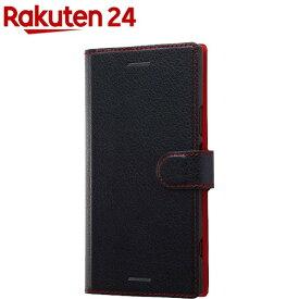 Xperia XZ1 手帳型ケース シンプル マグネット/ブラック/レッド RT-RXZ1ELC1/BR(1コ入)【レイ・アウト】