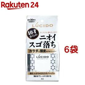 ルシード カラダと頭皮のデオペーパー(30枚入*6袋セット)【ルシード(LUCIDO)】