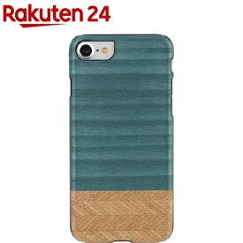マン&ウッド iPhone7 天然木ケース デニム ブラックフレーム I8080i7(1コ入)【マン&ウッド(Man&Wood)】