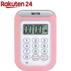 タニタ 丸洗いタイマー100分計 ピンク TD-378-PK(1台)【タニタ(TANITA)】