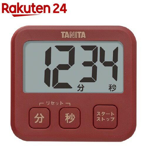 タニタ薄型タイマーレッドTD-408-RD