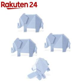 エレコム コンセントキャップ ホコリ防止 難燃性樹脂 ゾウ ブルー T-CAPKAKU1(4個)【エレコム(ELECOM)】