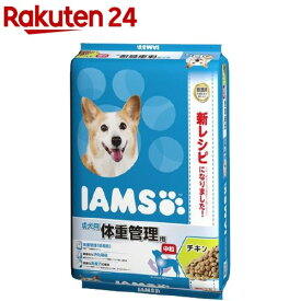 アイムス 成犬用 体重管理用 チキン 中粒(12kg)【m3ad】【dalc_iams】【アイムス】
