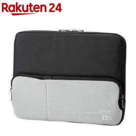 エレコム PC インナーケース ポケット付き 13.3インチ ブラック BM-IBPT13BK(1個入)【エレコム(ELECOM)】