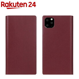 SLG Design iPhone 11 Pro Calf Skin Leather Diary バーガンディ SD17889i58R(1個)【SLG Design(エスエルジーデザイン)】