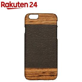 マンアンドウッド iPhone6 天然木ケース カカオ ブラック I4490i6(1コ入)【マン&ウッド(Man&Wood)】