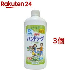 薬用 ハンドソープ 泡タイプ シトラス 詰替用ボトル(450ml*3コセット)