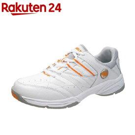 アサヒ ウィンブルドン WL-3500 ホワイト/オレンジ 25.0cm(1足)【ウィンブルドン(WIMBLEDON)】