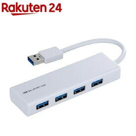 ナカバヤシ 4ポートUSB3.0ハブ UHー3034W(1コ入)