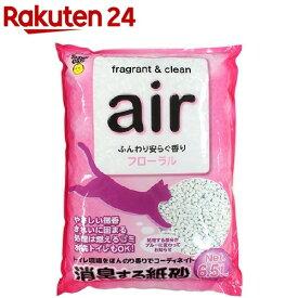 猫砂 air 消臭する紙砂 フローラル(6.5L)【スーパーキャット】