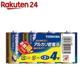 東芝 アルカリ単ニ形電池 4本パック LR14L 4MP(1コ入)