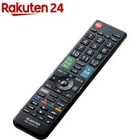 エレコム かんたんTV用リモコン(東芝用) ブラック ERC-TV01BK-TO(1コ入)【エレコム(ELECOM)】