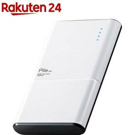 エレコム モバイルバッテリー 薄型 Type-C 6000mAh PSE適合 ホワイト DE-M07-N6030WH(1個)【エレコム(ELECOM)】
